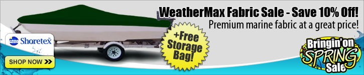 WeatherMax Fabric Sale - Now 10% Off!