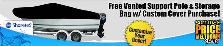 Free Vented Support Pole & Storage Bag w/ Custom Cover Purchase!