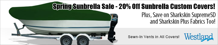 Sunbrella, Sharkskin SupremeSD & Sharkskin Plus Covers Now 15% Off!
