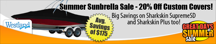 Save 20% Off Sunbrella Custom Covers! Plus, Save 15% on Sharkskin Supreme SD and Sharkskin Plus!