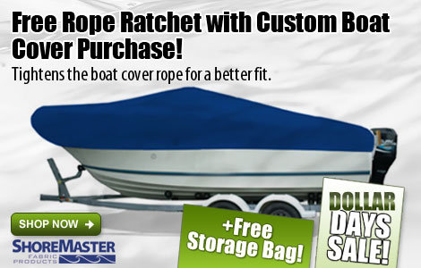 Free Rope Ratchet with ShoreMaster Boat Cover Purchase!